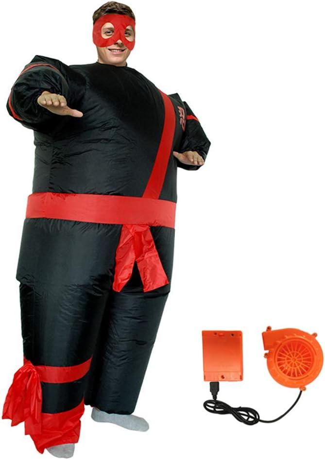 Disfraces Japonesas Samurai Inflables con Ventilador De Ventilador para Adulto, Divertido Blow Up Cosplay Traje Traje De Los Hombres De Halloween