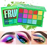 UCANBE Bright Colorful Neon Rainbow Makeup Eyeshadow Palette 15 Shades Green Purple Yellow Make Up Pallets Kit Vibrant Shimmer Matte Pigmented Blendable - Fruit Punch