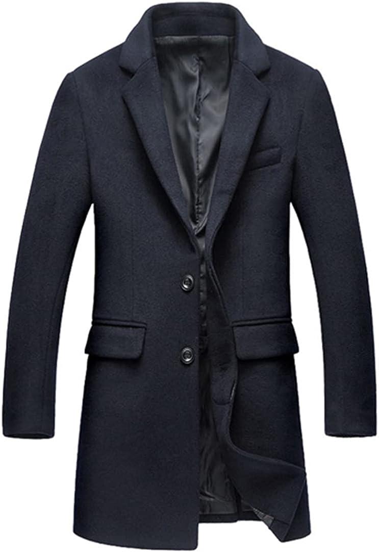 Men Wool Jacket Abrigos Hombre Men Overcoat Winter Casual Wool Coat Men Stand Collar