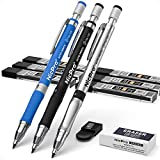 Nicpro 11 Pieces 2mm Mechanical Pencil Set, 3 PCS Carpenter Drafting Pencil 2.0 mm for Art Drawing Writing Sketching Construction with 6 Tube Pre-Sharpen HB & 2B Refill, Eraser, Sharpener
