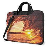Sunset Dusk Waves Unisex Laptop Bag Messenger Bolsa de Hombro para computadora Maletín Funda de Transporte