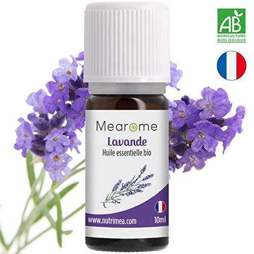 Huile Essentielle de LAVANDE VRAIE BIO - 10 ml - 100% Pure et Naturelle - HEBBD - HECT - certifiée Biologique -distillée en France - huile essentielle sommeil relaxation & anti poux