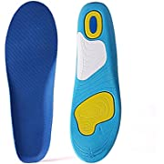Orthotic Insoles for Men & Women, Full Length Plantar Fasciitis Inserts with Hight Arch Support, Sports Orthopedic Gel Shoes Insoles for Supination, Flat Feet, Heel & Foot Pain