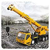 WYB Remote Control Toy Crane, 1/24 RC Remote Control Construction Truck 2.4G Remote Control Toy Crane 660° Rotating with Light 3 5 4 6 7 8 Year Old Children's Toy Gift