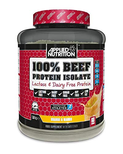 Applied Nutrition 100% Beef Protein Isolate Lactose and Dairy Free Supplement 1.8 kg   60 Servings (Orange & Mango)