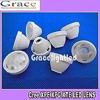 20PCS x 90 Degree 21mm frosted Lens For Cree XPE XPG XTE LED