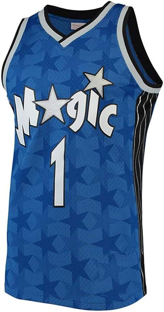 Camiseta de Baloncesto para Hombre S-3XL Orlando Magic 1# Tracy McGrady Street Retro Camiseta Verano Bordado Tops Boy Swingman Baloncesto Traje Regalo de cumplea/ños