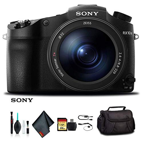 Sony Cyber-Shot DSC-RX10 III Camera DSCRX10M3/B with Soft Bag, 64GB Memory Card, Card Reader, Plus Essential Accessories