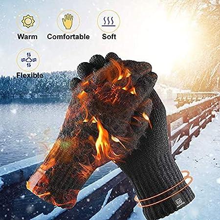 lenvoi de SMS Gants dhiver Thermiques tricot/és Chauds antid/érapants /à /écran Tactile pour Hommes Femmes Le Cyclisme la Course /à Pied Brife Gants dhiver Gants de Plein air pour Le Sport