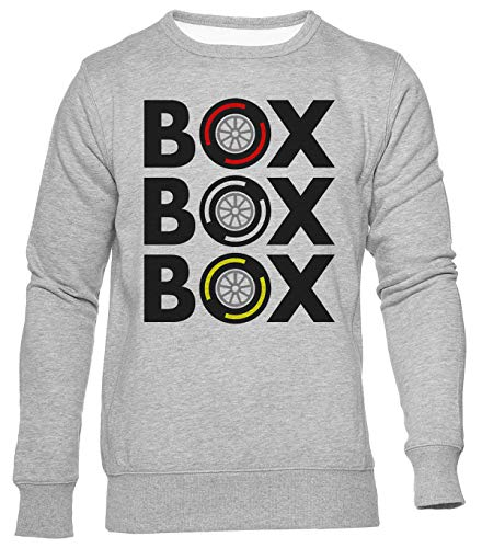 Delavi Box Box Box Tyre Compound Jumper Herren Damen Unisex Grau Men's Women's Grey