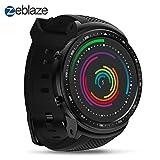 Zeblaze Super Lightweight Smart Thor PRO Watch Smartwatch-Shadow, Android 5.1 Bluetooth 4.0 Quad Core 1GB+16GB 5.0MP 580mAh 3G GPS Smat Watch for Men Black Activity Tracker
