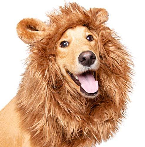 "Pet Krewe Dog Lion Mane Halloween Costume – Fits Neck Size 13""-..."