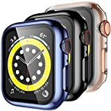 Upeak 3 Paquetes Carcasa Compatible con Apple Watch Series 6/5/4/SE 44mm Funda con Película de...
