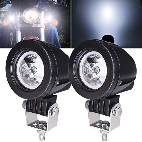2 x 10 W Motorrad-Nebelscheinwerfer, weiß, 5,1 cm Motorrad-Nebelscheinwerfer, Zusatzlichter, Motorrad-Scheinwerfer, LED-Hilfslichter 12 V 24 V für LKW, Off-Road, 4 x 4, ATV