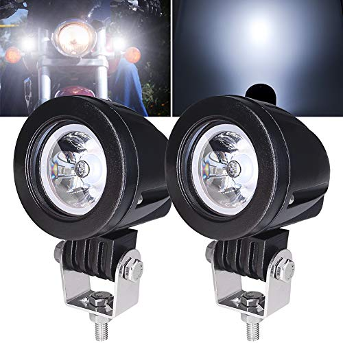 2Pcs 10W Motorcycle Spotlights White,2 Inch motorcycle Fog Light lamp Additional Lights Motorcycle Headlight LED Auxiliary Lights 12V 24V for Truck Off Road 4X4 ATV