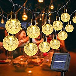 20%OFF SYLHLW Solar String Lights Outdoor, 50 LED 23Ft String Lights Waterproof Fairy Lights