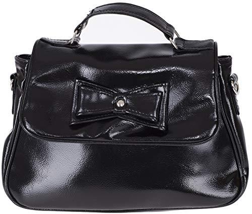 Küstenluder Damen Tasche Yunli Vintage Schleife Lack Handbag Schwarz