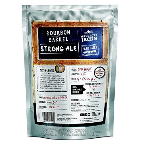 Mangrove Jack's Bourbon Barrel Strong Ale Craft Beer Kit Bolsas 14L 6.5% ABV