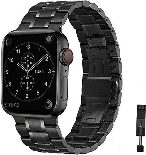 Chay - Correa de repuesto para Apple Watch de 44 mm, acero inoxidable para iwatch Serie 5 y Serie 4