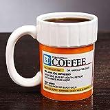 LZCR Tazas Taza Cafeína Receta Taza De Café Botella De Píldora Taza De Café Farmacia RX