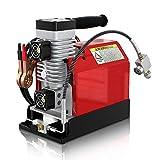 Compresor de aire PCP, GX pcp compressor portátil 4500 Psi/30Mpa, sin aceite, alimentado por coche 12V DC o hogar 220V AC con adaptador, paintball/compresor de tanque