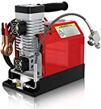 GX CS2 Portable PCP Air Compressor,4500Psi/30Mpa,Oil-Free,Powered by Car 12V DC or Home 110V AC with Adapter (Included), Paintball/Scuba Tank Compressor Pump with Extra Moisture-Oil Separator