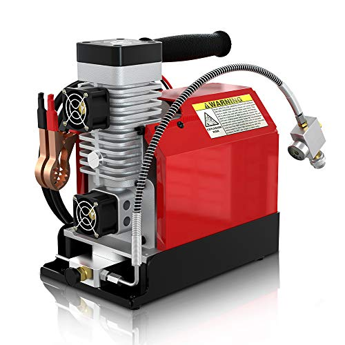 GX CS2 Portable PCP Air Compressor, 4500Psi/30Mpa,Oil-Free,Powered by Car 12V DC or Home 110V AC with Adapter (Included), Paintball/Scuba Tank Compressor Pump with Extra Moisture-Oil Separator