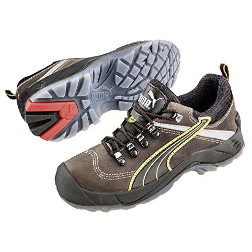 Puma Safety Shoes Condor Low S3 SRC, Puma 640541-204 Unisex-Erwachsene Espadrille Halbschuhe, Braun (braun/schwarz 204), EU 39
