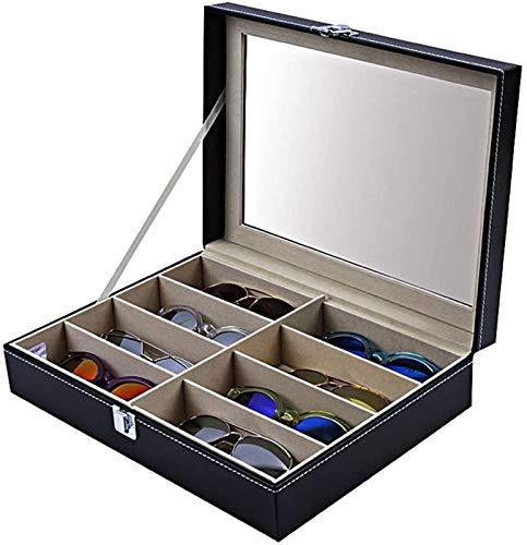 RTUTUR Caja de almacenamiento multifuncionales Caja de almacenamiento Eyeaglasses Organizador Caja de clasificación Caja de clasificación Visualización Gafas de sol Eyewear Funda de almacenamiento Eye