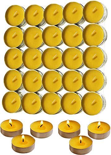 Zitronengras Teelicht Kerzen Innen und Außen Mückenschutzkerze für Garten Terrasse und Hof - 50 Stück
