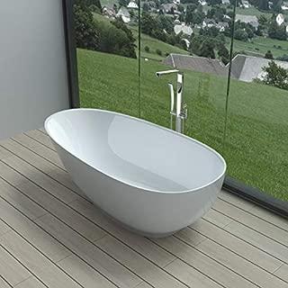 ADM Small Low-Height Stone Resin Freestanding Bathtub 63
