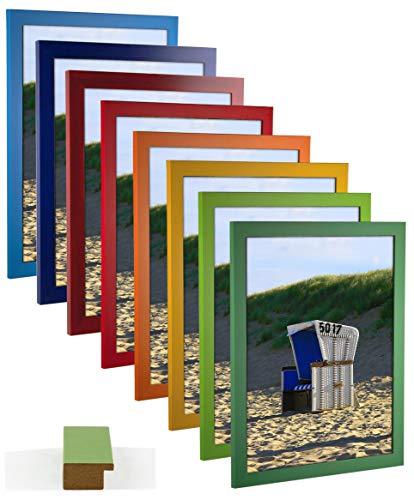 myposterframe Bilderrahmen 29,7 x 42 cm Juno Bunt Größen Wahl DIN A3 Orange mit Kunstglas klar 1 mm