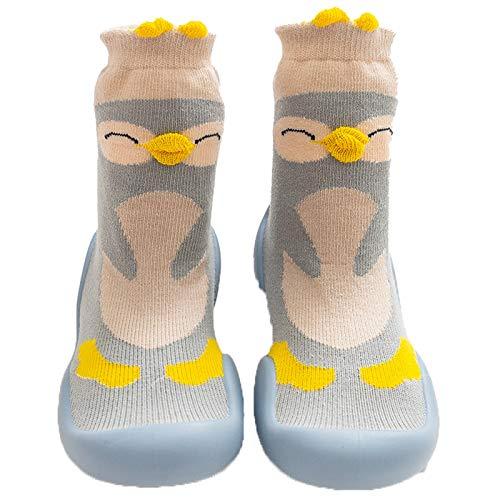 Huihong Rosa Baumwolle Baby Mädchen Socken,Kleinkind Mä dchen Socken mit Griffen Tier Cartoons Dekoration