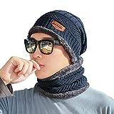Ranget Winter Beanie Mütze Schal Set Warme Strickmütze Skimütze für Männer Frauen