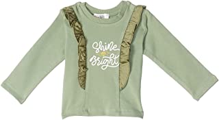Giggles Ruffle Detail Letter Print Long Sleeves Sweatshirt for Girls