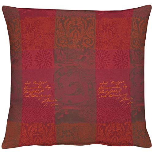Apelt Housse de Coussin, Polyester, Rouge, 49 x 49 cm