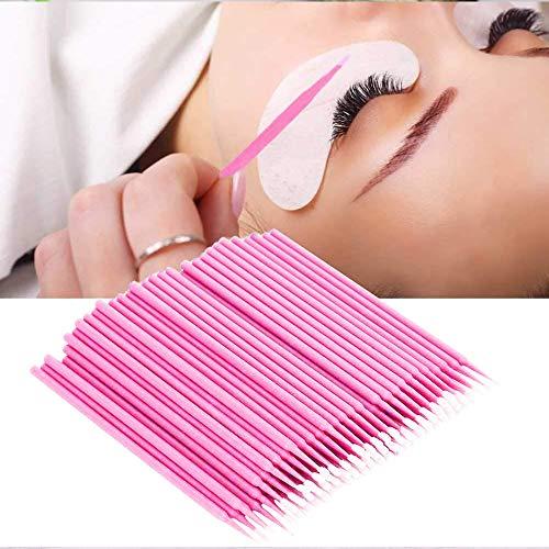200 Stück Rosa Einweg Microbürsten, Einweg Wattestäbchen,Applikatoren Einweg Microbrush,für Wimpernverlängerung Makeup,Zahn- und Sauberkeit