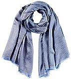 Hugo Woman-Z 608 10224117 01 - Bufanda para mujer, color azul brillante
