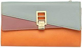 Baggit Womens Metallic Lock Closure 2 Fold Wallet (Orange_Free Size)