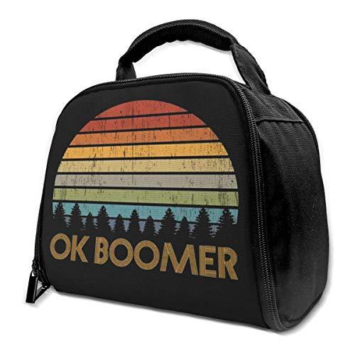 Ok Boomer Vintage Retro Sunset Isolierte Lunchtasche Isolierte Lunchbox Tote Bag Kühltasche für Picknick Arbeit