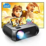 Wi-Fi Mini Projector, 150 ANSI Lumen, Native 1280x720P Portable Projector, Full HD 1080P Supported Outdoor Projector, Wireless Mirroring by WiFi/USB Cable, for Android/Laptops/Windows