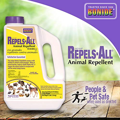 Bonide (BND2361) - Repels-All Animal Repellent, Granules (3 lb.)