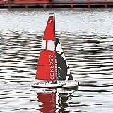 UJIKHSD Super Grande Control Remoto Barco De Vela Longitud del Casco 65 Cm Potencia De Simulación...