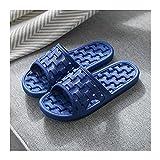 liangzishop Chanclas Textura de Tejido diseño Zapatillas de baño para Hombres Antideslizantes Sandalias de baño para baño Interior de baño Flops (Color : Blue, Size : 40-41)