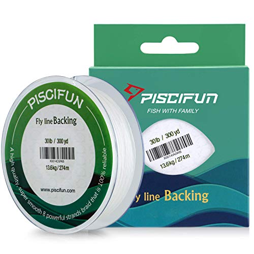 Piscifun Braided Fly Fishing Backing Line 20LB 100yds White