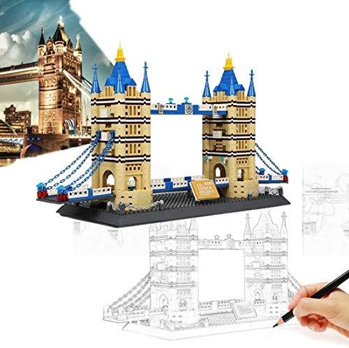 YZHM Building Block, Londres Tower Bridge World Landmark 1033PCS Bloques de construcción Kits Instruction Child Educational 3D Puzzle DIY Toy Regalos, adecuados para niños