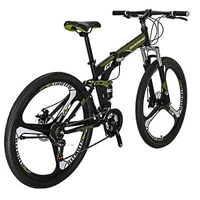 Folding Bike TSM G7 Bicycle 27.5Inch Dual Disc Brake Bike (Armygerrn 3-Spoke)