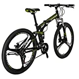 Folding Bike TSM G7 Bicycle 27.5Inch Dual Disc Brake Bike (Armygerrn)