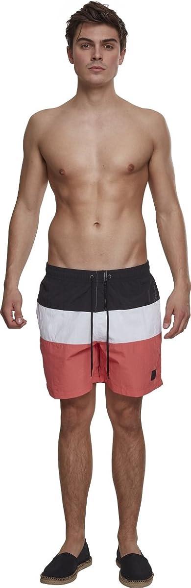 Badeshorts Color Block Swimshorts Urban Classics Herren Badehose