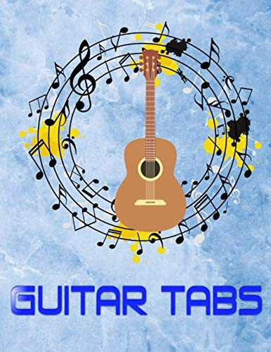 Guitar Tablature Book: Guitar Tabs Universe Size 8.5 X 11 Inches Matte Cover Design Cream Paper Sheet ~ Journal - Play # Music 120 Pages Fast Print.